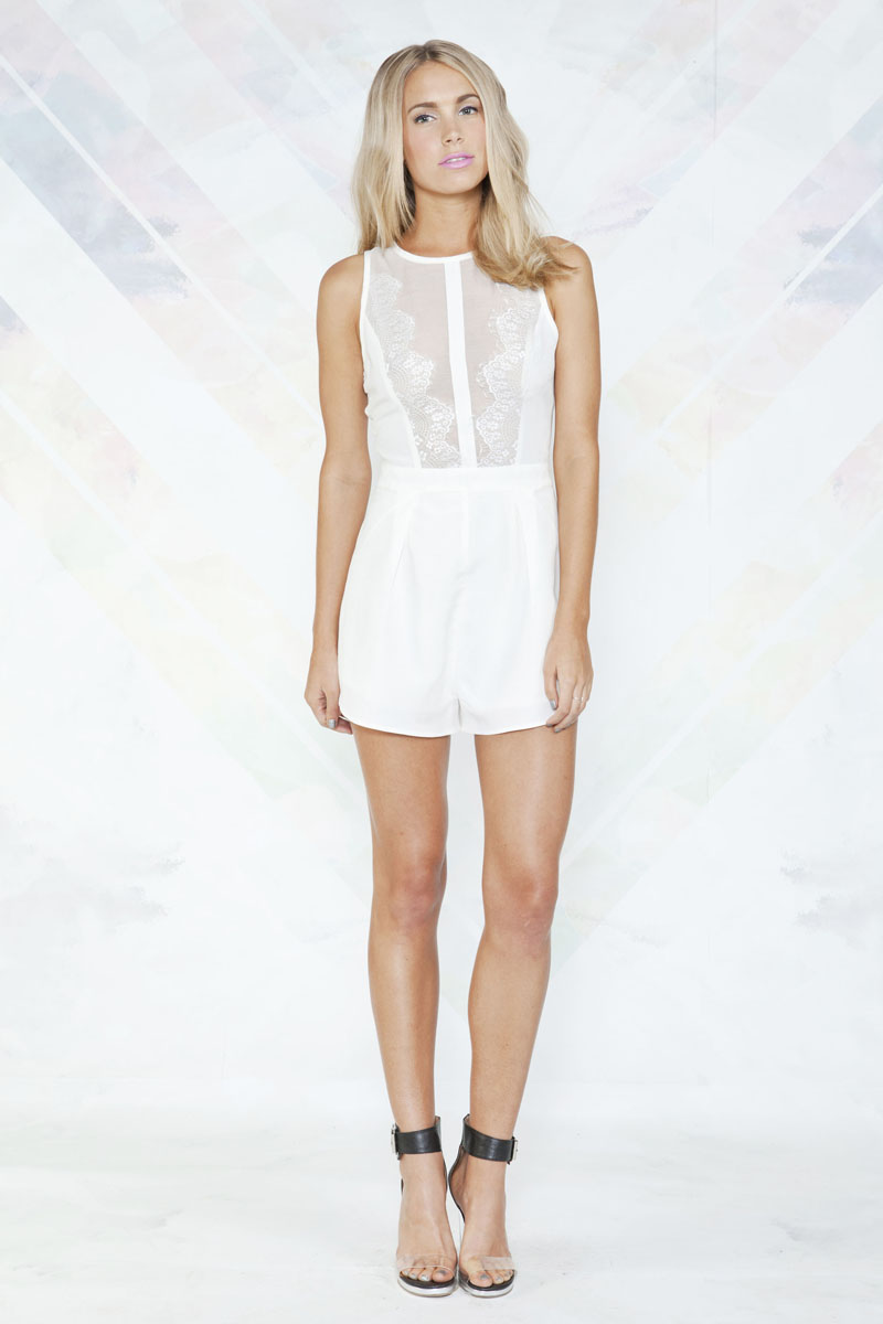 Finders Keepers Playsuit Ivory