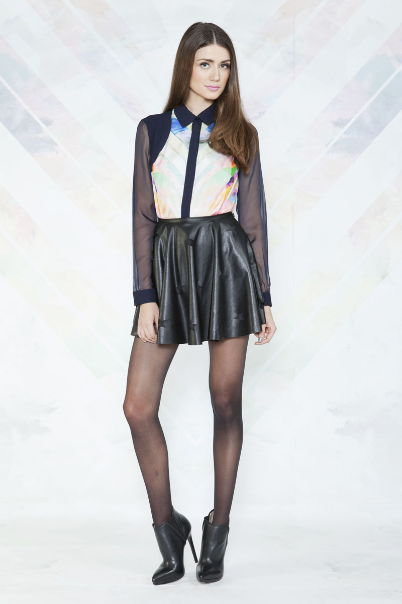 Finders Keepers Rock City Long Sleeve Shirt and Love Gun Skirt