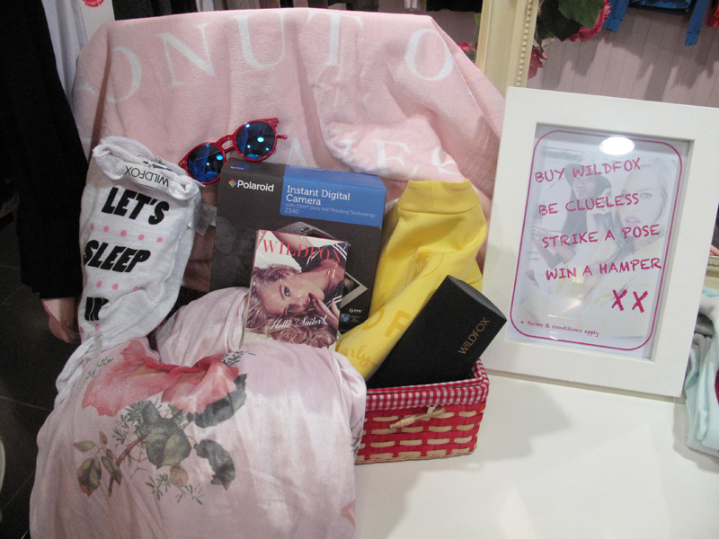 hamper wildfox clueless competition harrods