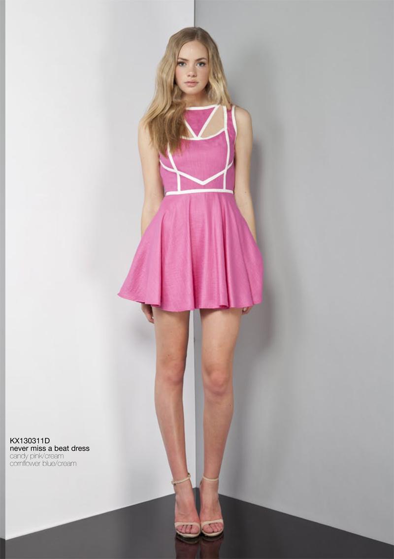 Never Miss A Beat Dress Keepsake Carousel candy pink cream