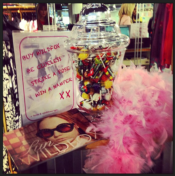 strike a pose feather boa lollipops wildfox clueless competition harrods