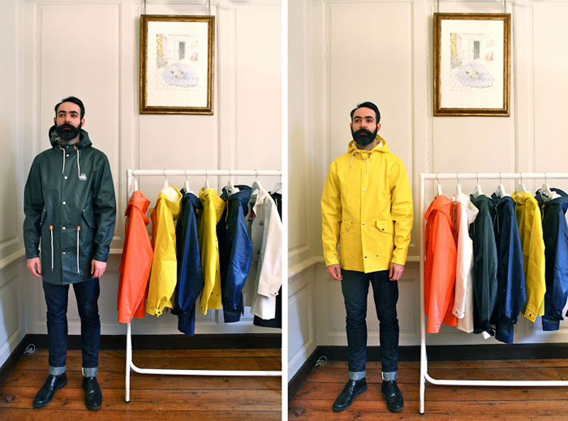 Elvine x Grundens raincoats Chris Chasseaud Fashitects Elvine UK Launch 2