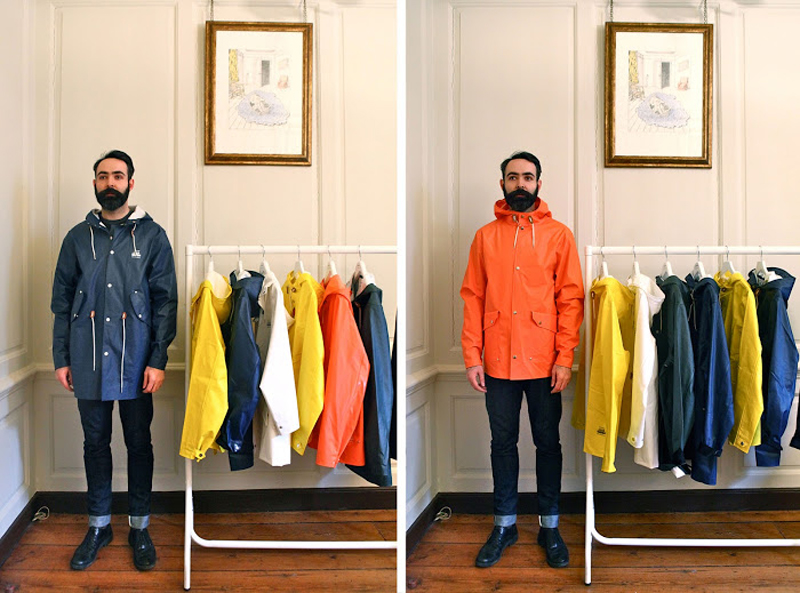 Elvine x Grundens raincoats Chris Chasseaud Fashitects Elvine UK Launch