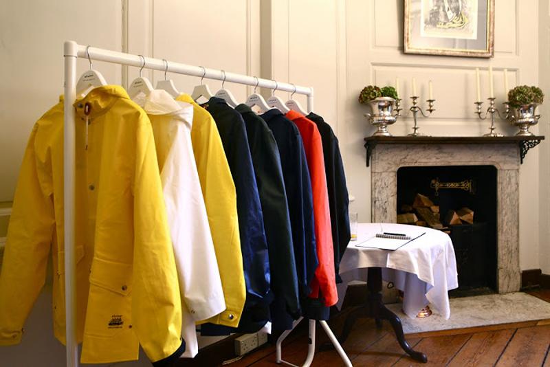 Elvine x Grundens raincoats photo by Toni Tran Fashitects Elvine UK Launch