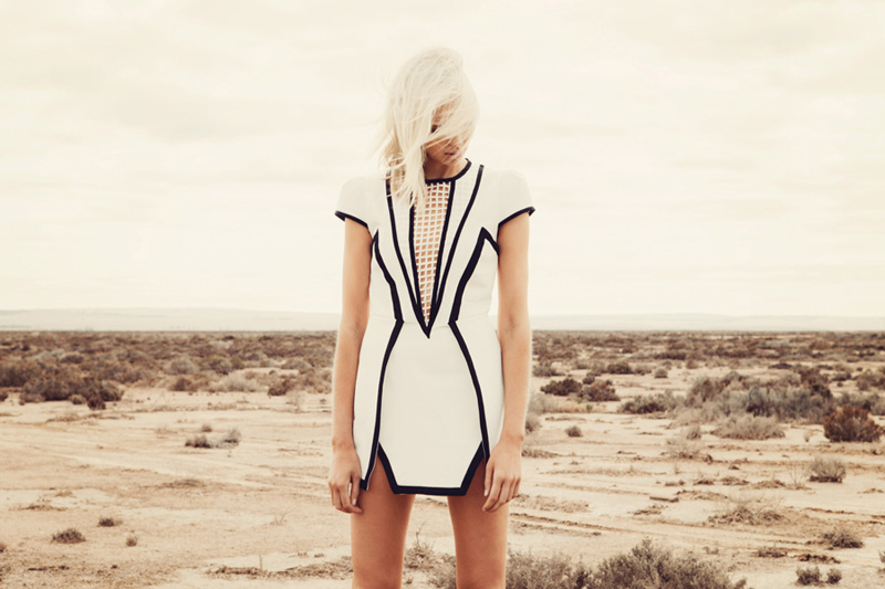 Finders Keepers Field of Dreams By The Way Dress in ivory black