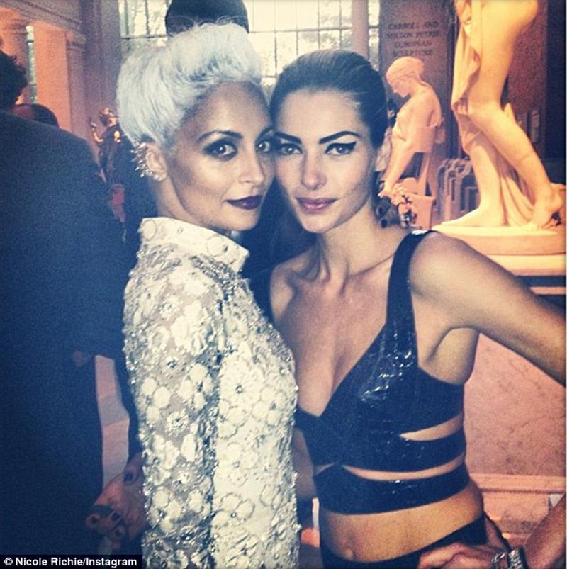 Jessica Hart and Nicole Richie at Met Ball 2013