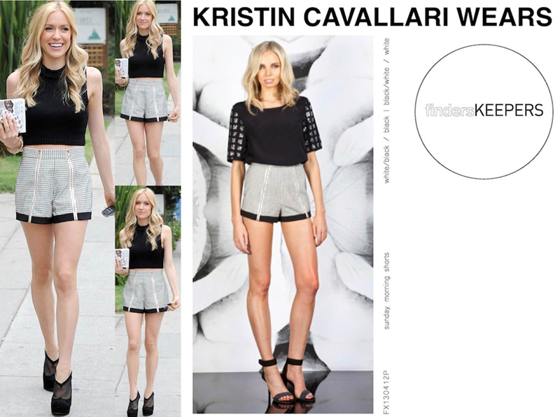 Kristin Cavallari in the sunday morning shorts finders keepers