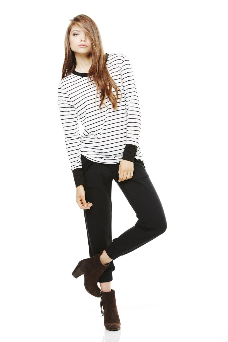 LNA Pre Fall 2013 Sandy Long Sleeve tee & Coco Sweat pants