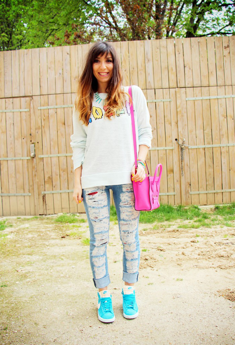 marie luv pink fashion blog WILDFOX loser jumper