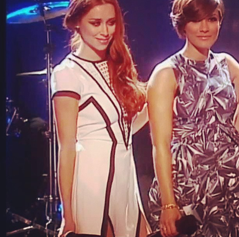 Una Healy from the Saturdays in Finders Keepers By The Way Dress on The Voice Ireland