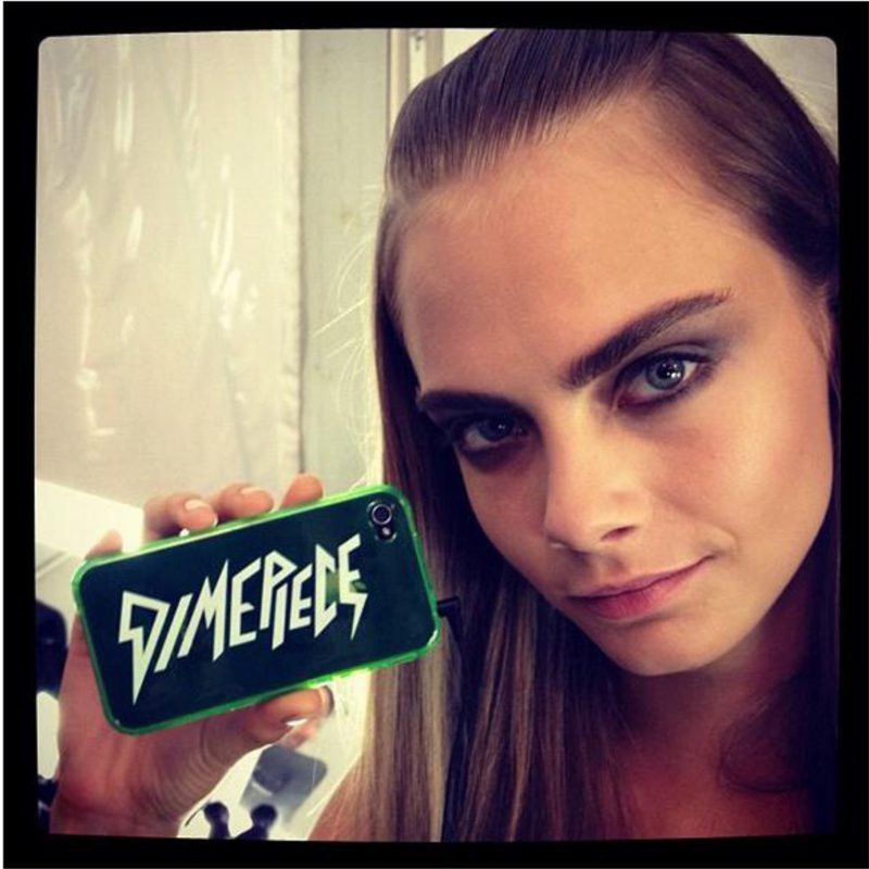 cara delevingne dimepiece iphone case neon green