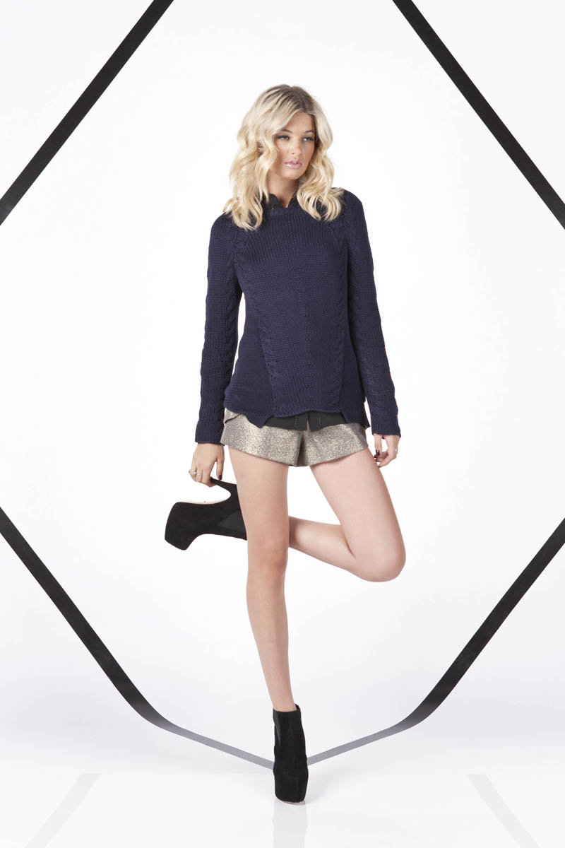 Finders Keepers A Beautiful Ordinary Infatuation Knit and Paper Aeroplane Shorts