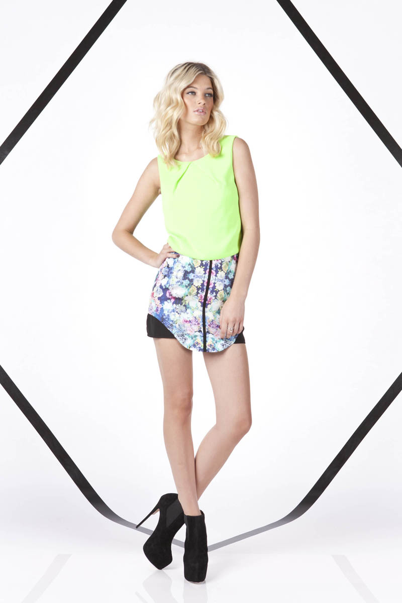 Finders Keepers A Beautiful Ordinary White Moon Top and All the Colours Skirt