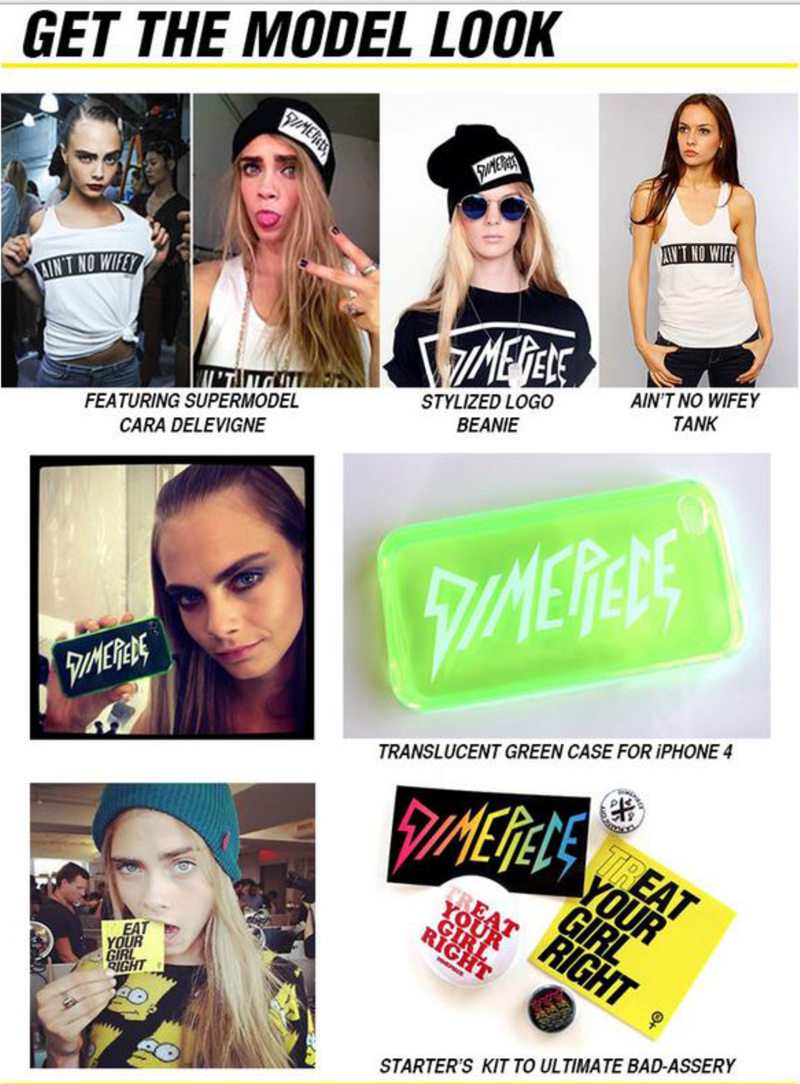 get the model look with dimepiece cara delevingne