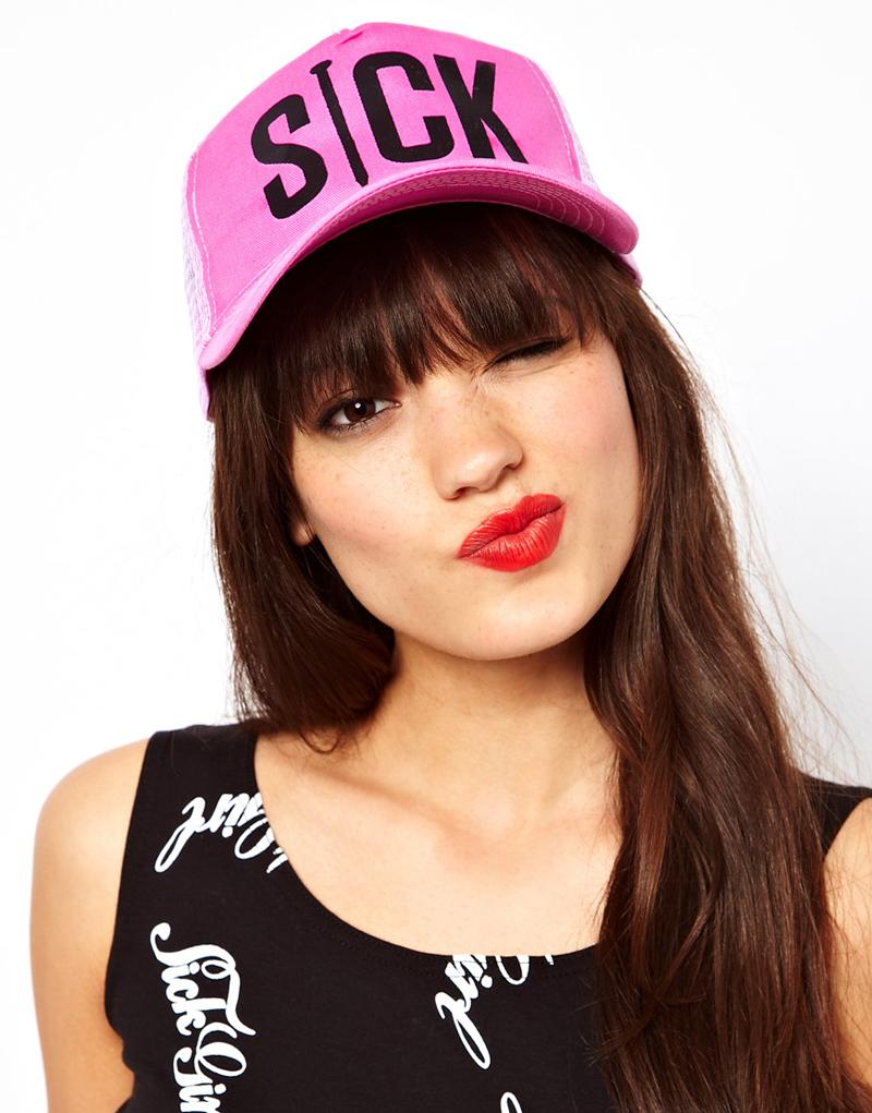 sick girl pink cap asos