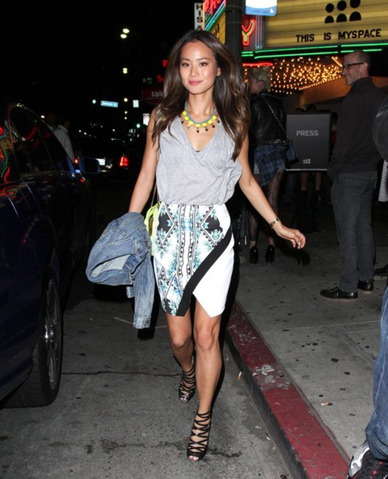jamie chung coming home skirt finders keepers