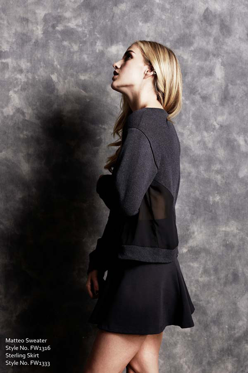 Matteo Sweater and Sterling Skirt LNA Fall 1 2013