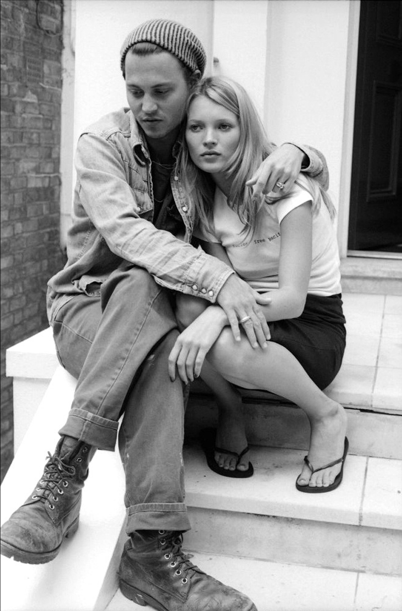 90s Love Kate Moss and Johnny Depp 2