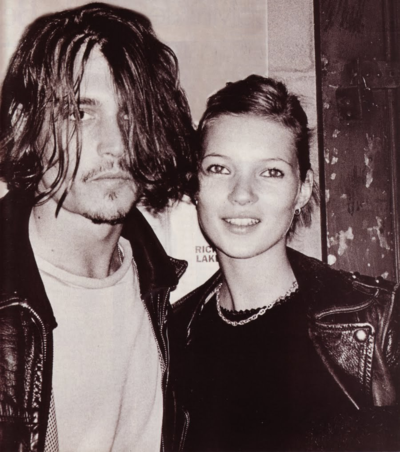90s Love Kate Moss and Johnny Depp 5