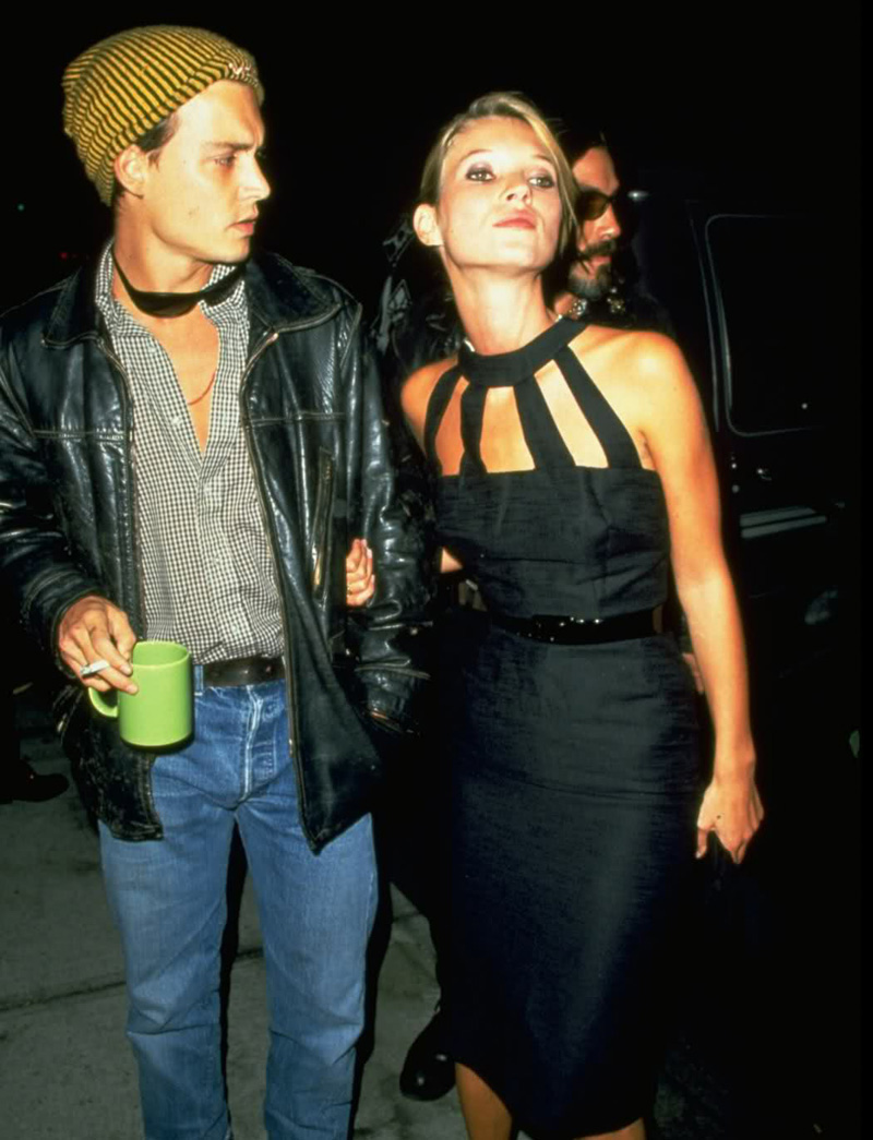 90s Love Kate Moss and Johnny Depp 7