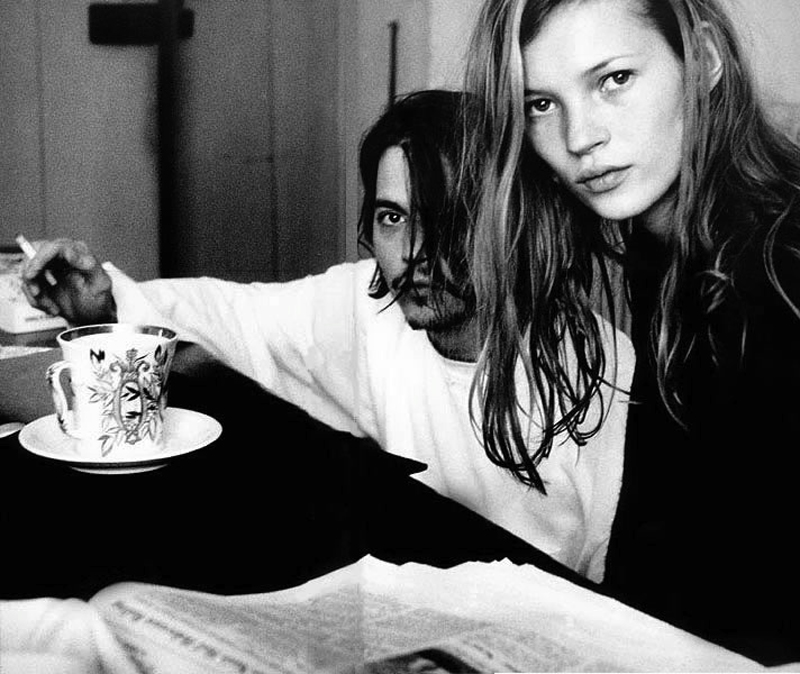 90s Love Kate Moss and Johnny Depp 9