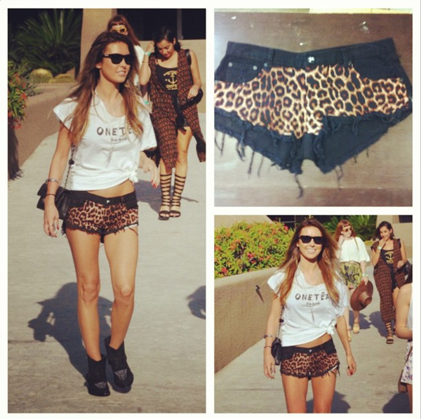 Audrina Patridge in the Surrender Trashwhores leopard print shorts