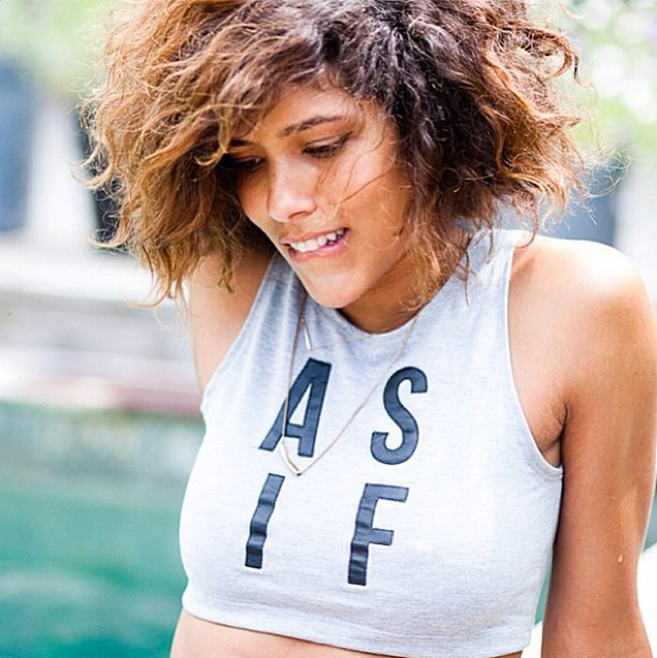 Blogger Christina Caradona from Trop Rouge in the AS IF crop top