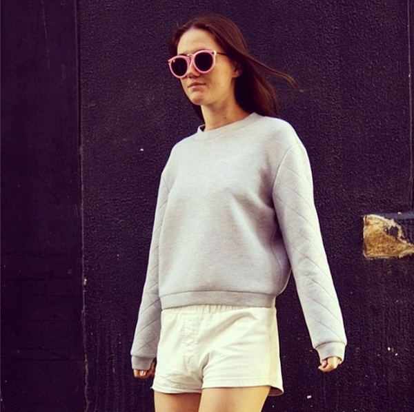 Doone from She Spoke Style fashion blog wearing the Oblivion Jumper in grey marle