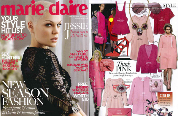 Finders Keepers Shuffle A Dream Playsuit in Candy Pink in Marie Claire UK