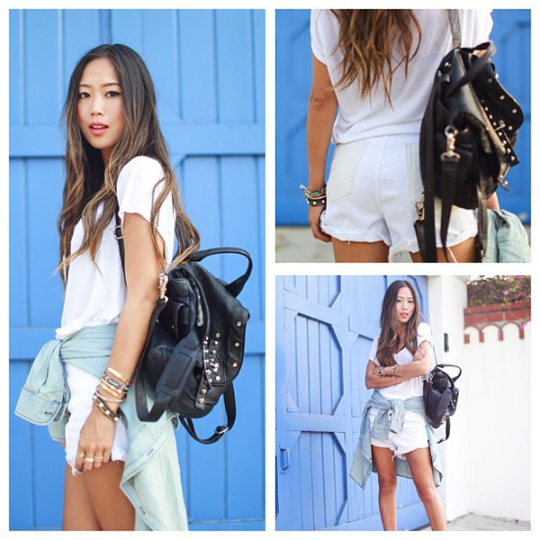 Aimee Song in the White Out Lovers Shorts