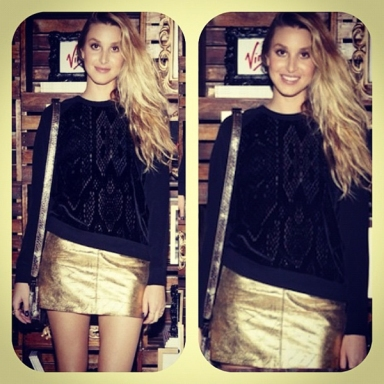 Whitney Port in the Fear & Loathing Skirt