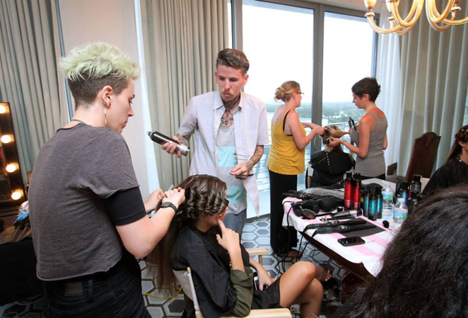 Wildfox Cruise 2014 Miami behind the scenes hair & makeup