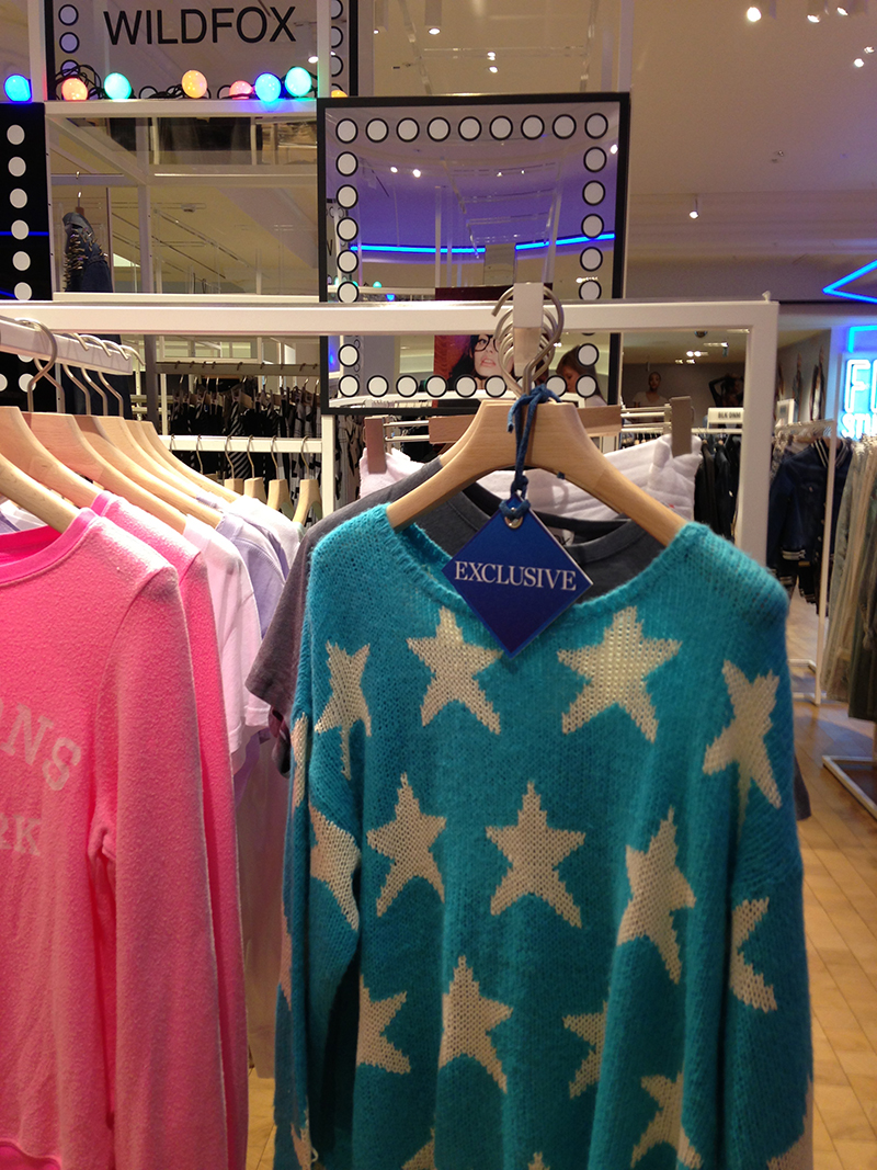 wildfox selfridges denim studio exclusive seeing stars jumper blue