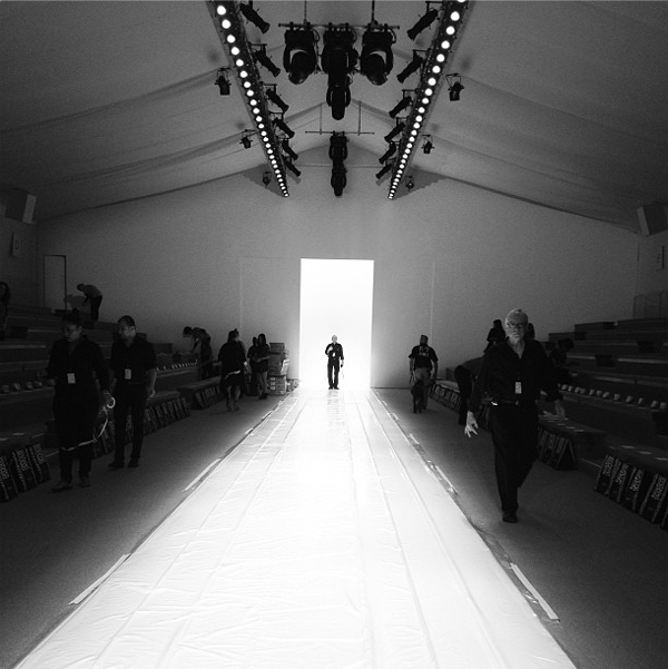 Catwalk at Lincoln Centre Mercedes Benz New York Fashion Week by @andrew_marc