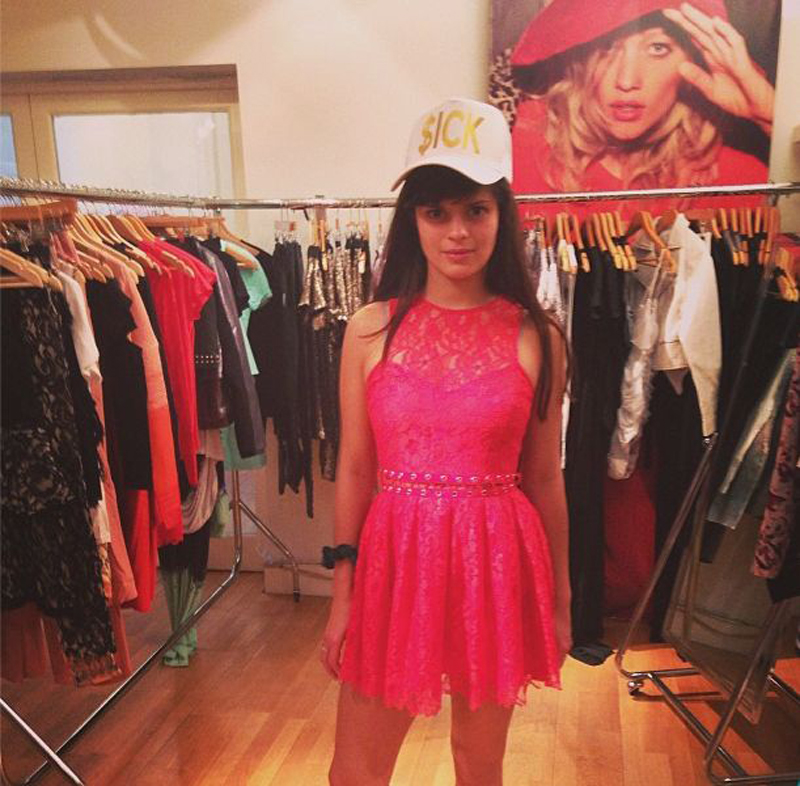Bip Ling in a Stylestalker dress at our showroom