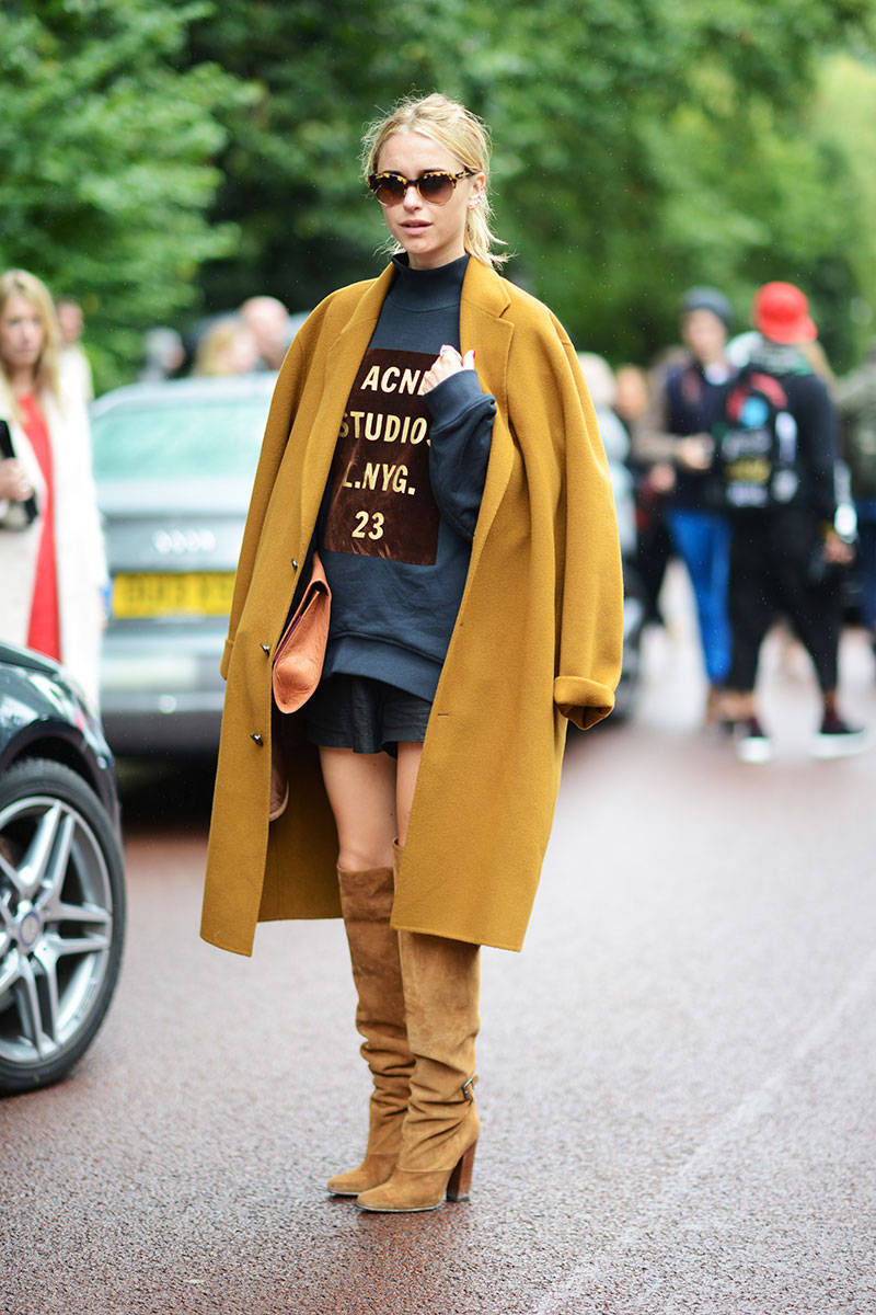 Elle Street Style Shots London Fashion Week Spring Summer 2014 Mustard Self Service
