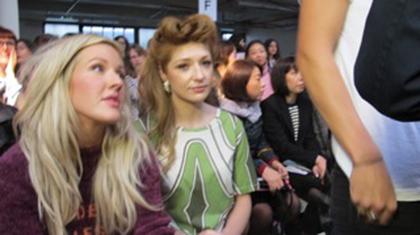 ellie goulding and nicola roberts at house of holland show lfw
