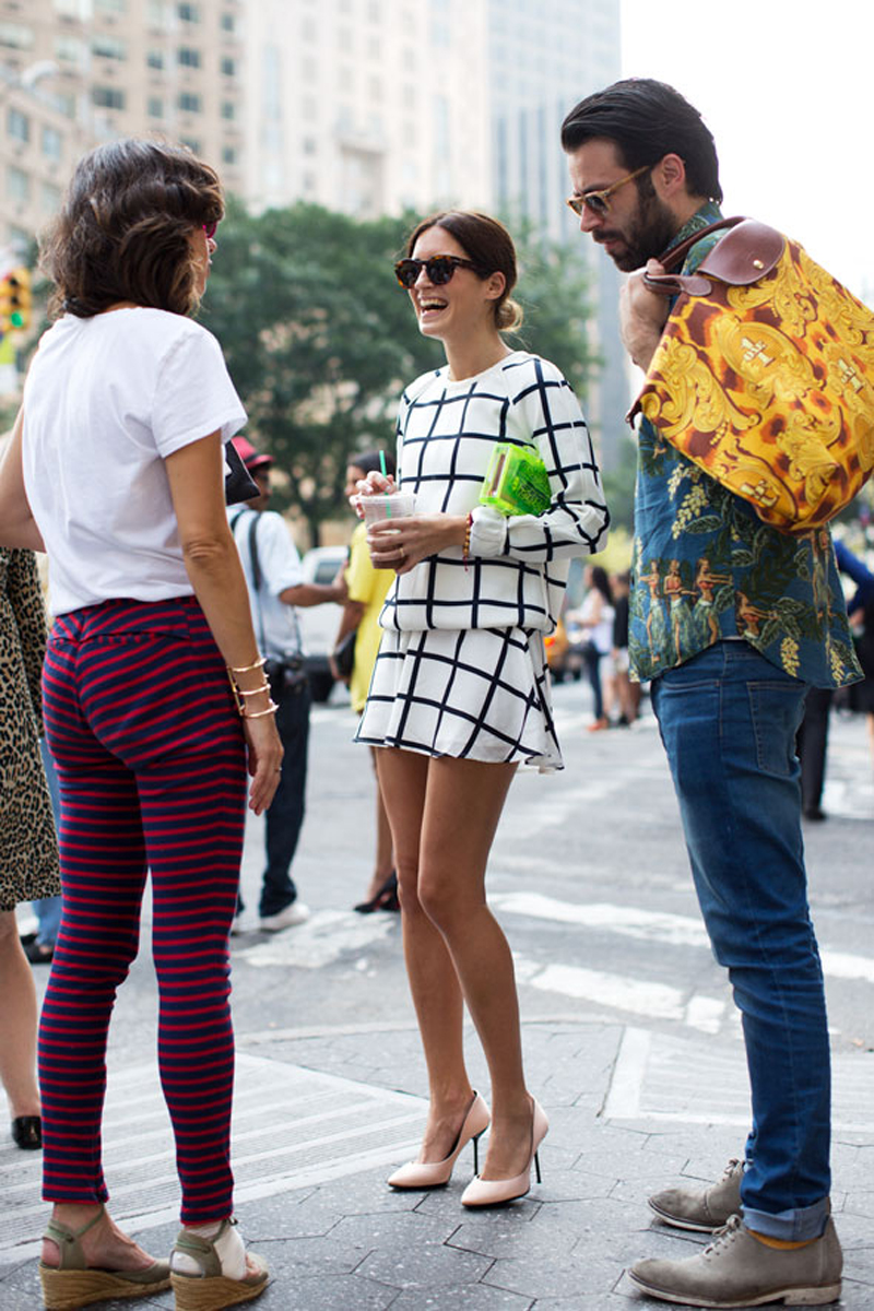 Fashion blogger Gala Gonzalez from Amlul wearing Finders Keepers to New York Fashion Week SS14 - photograph by Scott Schuman, the Sartorialist