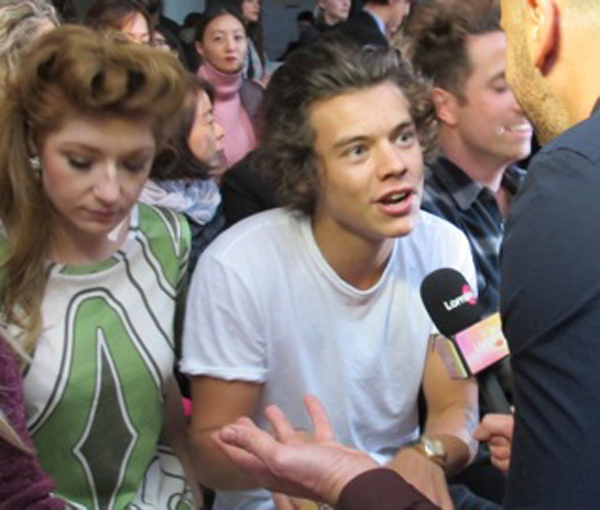 harry styles front row nicola roberts house of holland show lfw