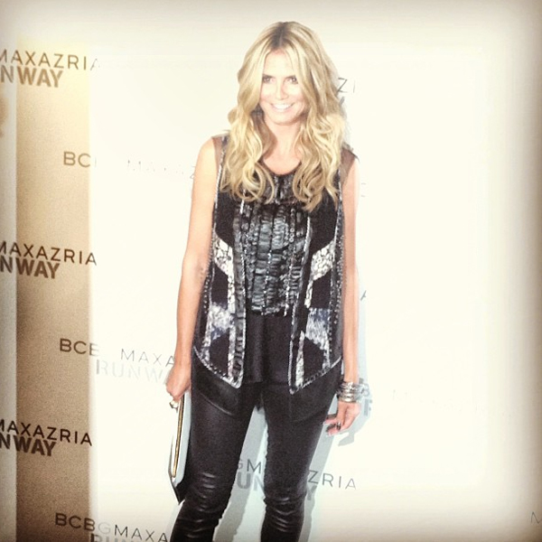 Hi Heidi! La Klum outside the BCBG Max Azria show