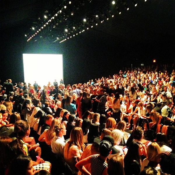 What a crowd! Inside the show tent at NYFW Spring Sommer 2014
