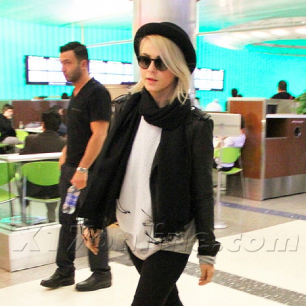 Julianne Hought leaving LAX airport in the Shya in Dark Tin