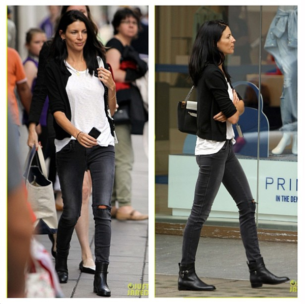 Liberty Ross wearing the Genetic Shya in Goth while shopping in London