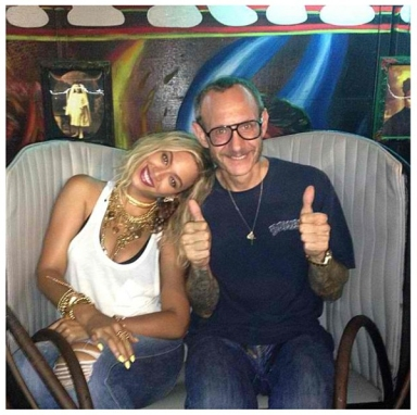 Happy Birthday, Beyonce Knowles! Wearing Genetic while hanging out with Terry Richardson