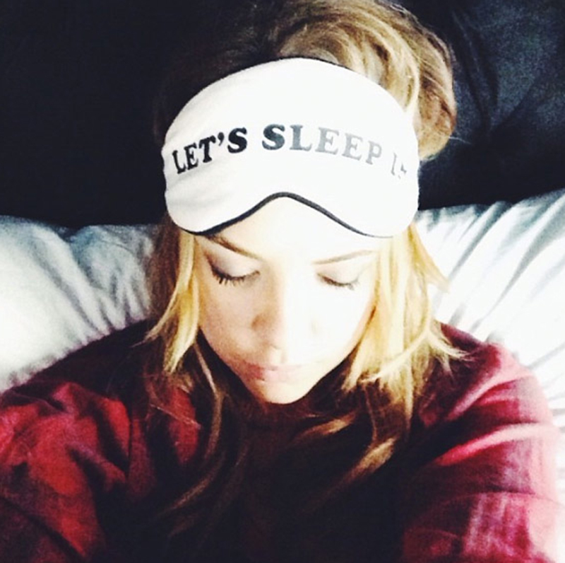 Ashley Benson wearing the Wildfox Pyjama Party Eye Mask