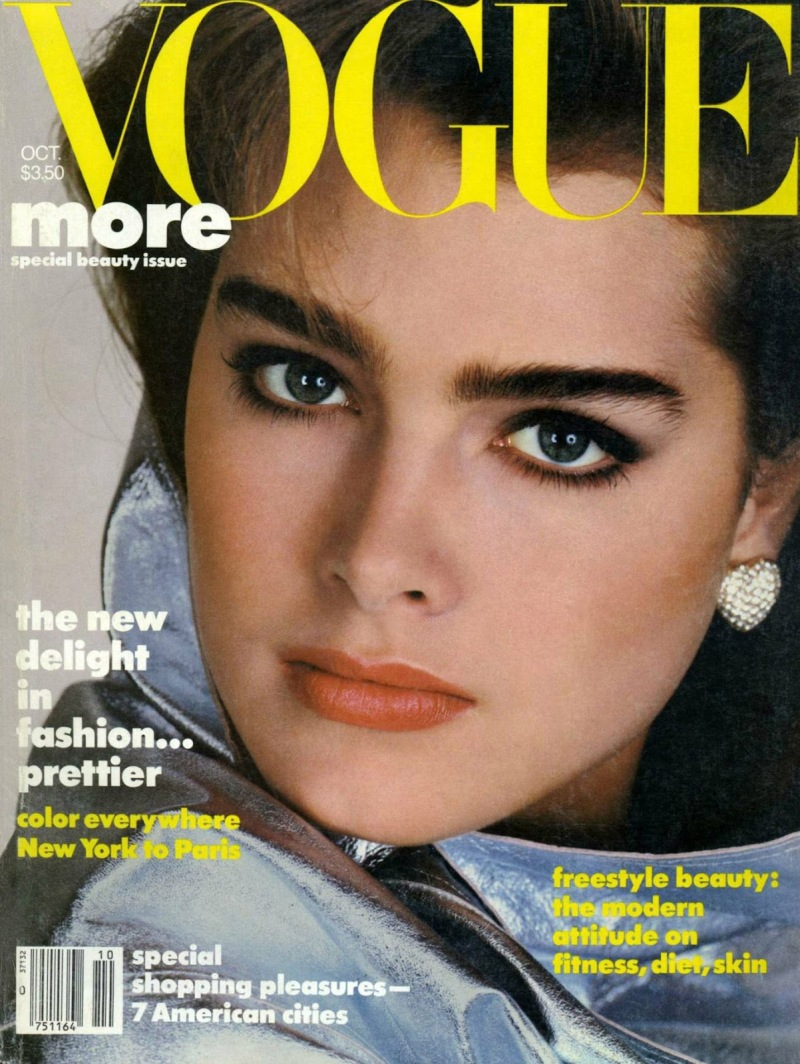 brooke shields 80s vogue cover