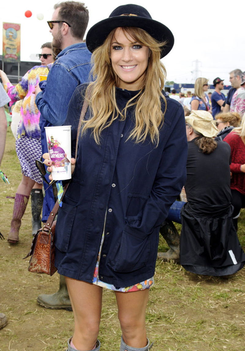 Caroline Flack in the Love To Loose Parka from Finders Keepers Paradise Found