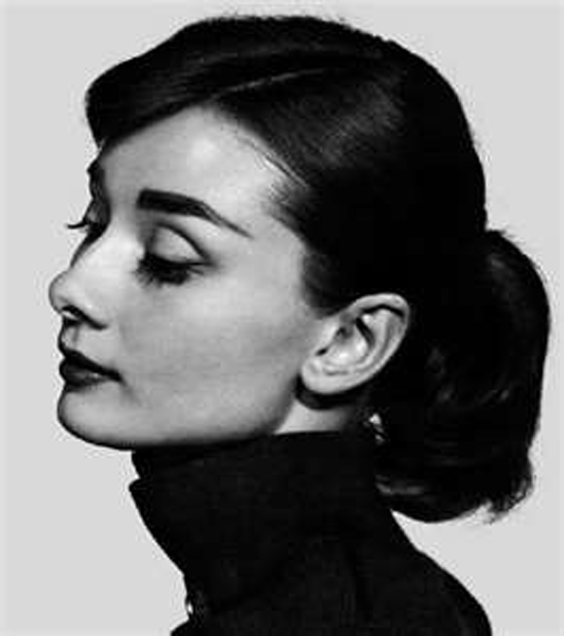 eye brow audrey hepburn