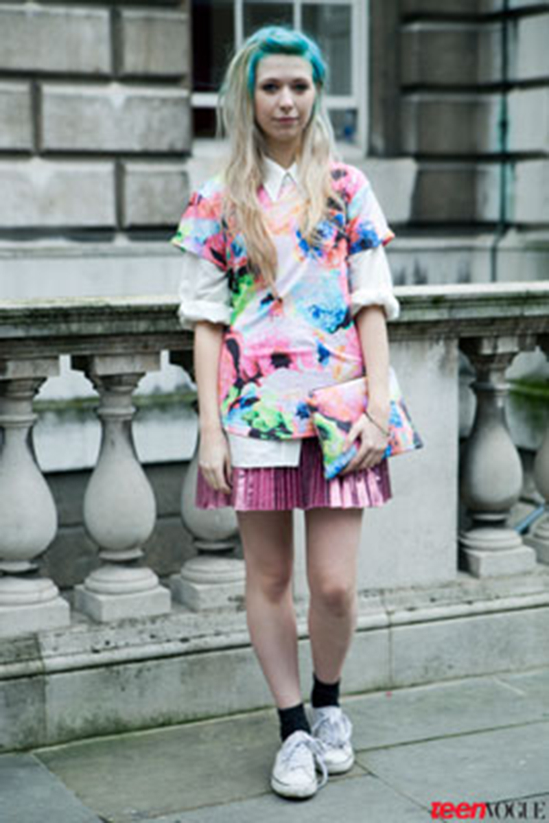 Kayla got snapped by Teen Vogue while at London Fashion Week