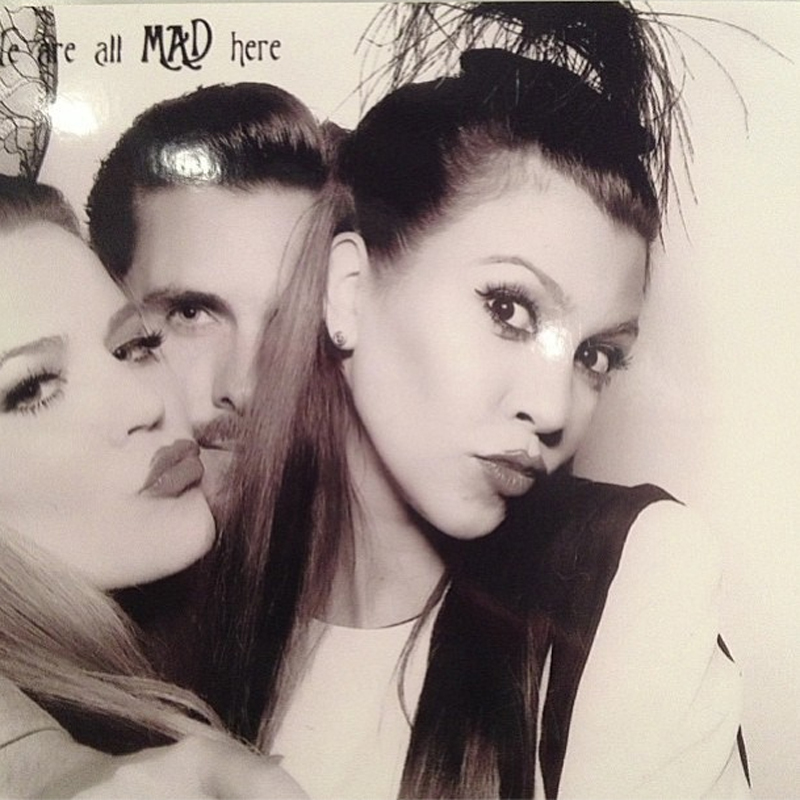 Kourtney Kardashian photobooth posing in the Foolproof Dress by Finders Keepers.